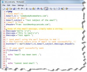 notepad2 screenshot