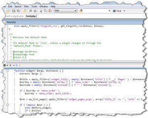 Programmer's notepad screenshot